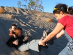 Fun at Sand Dunes - Death Valley, California