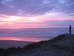 Sunset at San Gregorio State Beach, California.