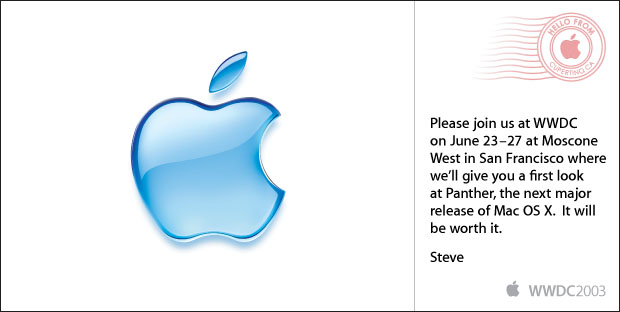 Steve Job's invitation to WWDC