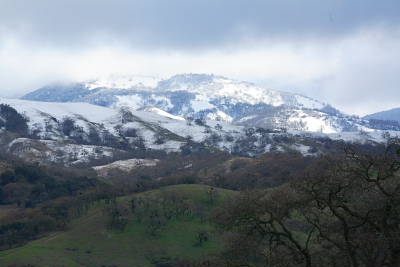 Snow on Mount Hamilton - March 11, 2006