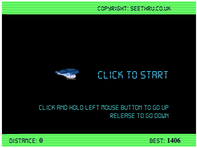 Helicopter high score screen shot